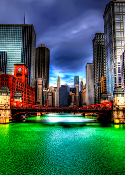 Photo of the Month:  Chicago River Green